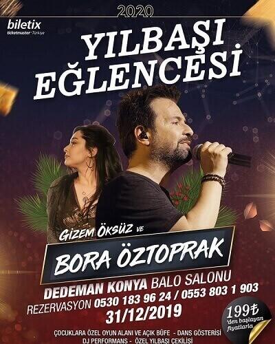Bora Öztoprak ve Gizem Öksüz Yılbaşı Programı 2020 için Dedeman Konya Hotel'de!