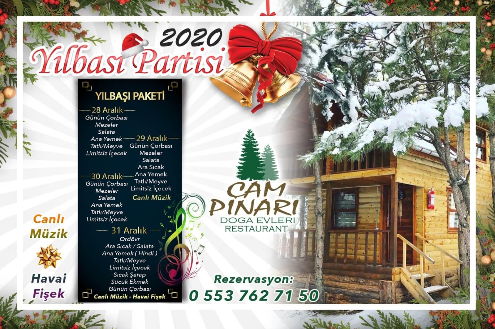Bolu 2020 Yılbaşı Programı Çampınarı Doğa Evleri Restaurant'ta Kutlanır