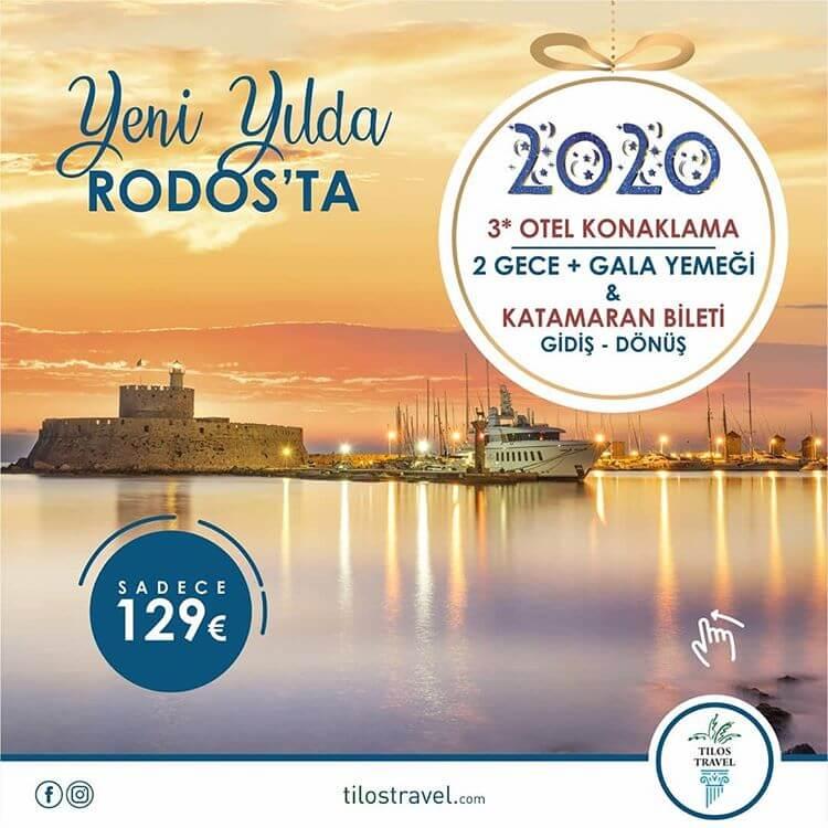 Fethiye Kalkışlı Rodos Yılbaşı Programı 2020