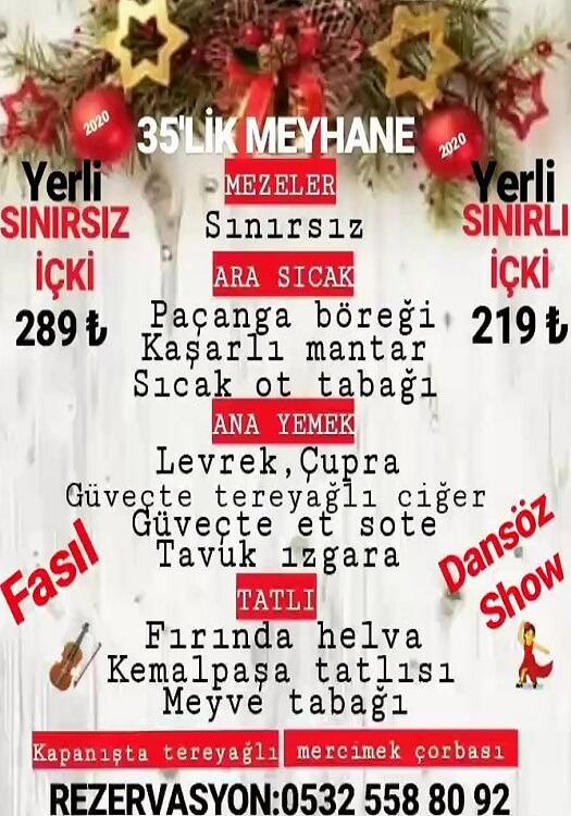 35'lik Meyhane İzmir Yılbaşı Programı 2020