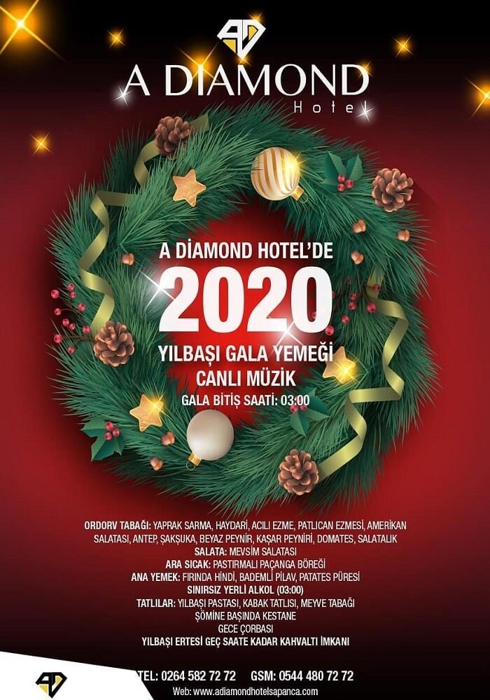 A Diamond Hotel Sapanca Yılbaşı Programı 2020