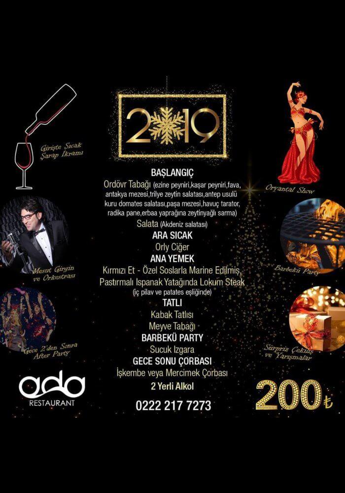 Ada Restaurant Eskişehir Yılbaşı Programı 2019