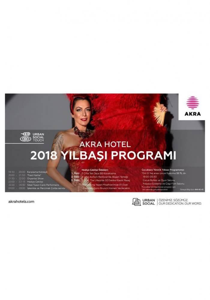Akra Hotel Yılbaşı 2018