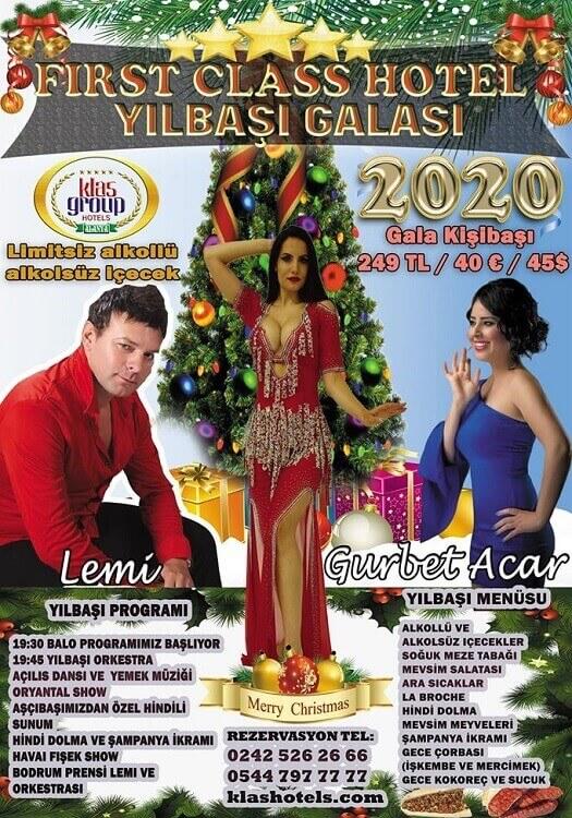 Alanya First Class Hotel 2020 Yılbaşı Programı