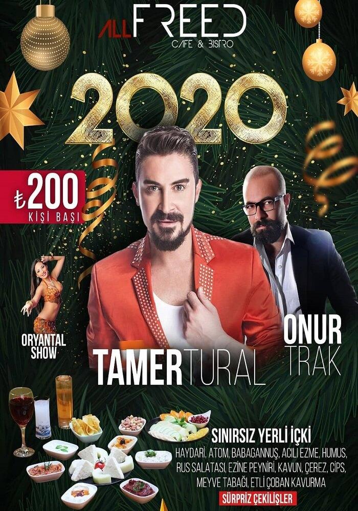 All Freed Cafe Bistro Eskişehir Yılbaşı Programı 2020