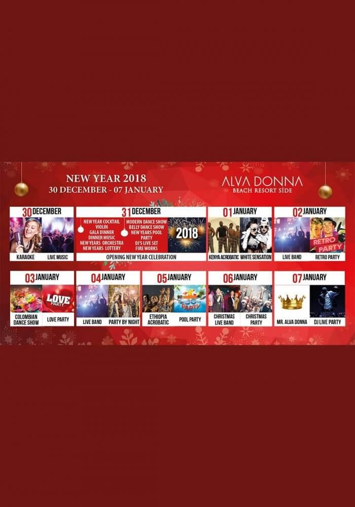 Alva Donna Hotel Side Yılbaşı 2018