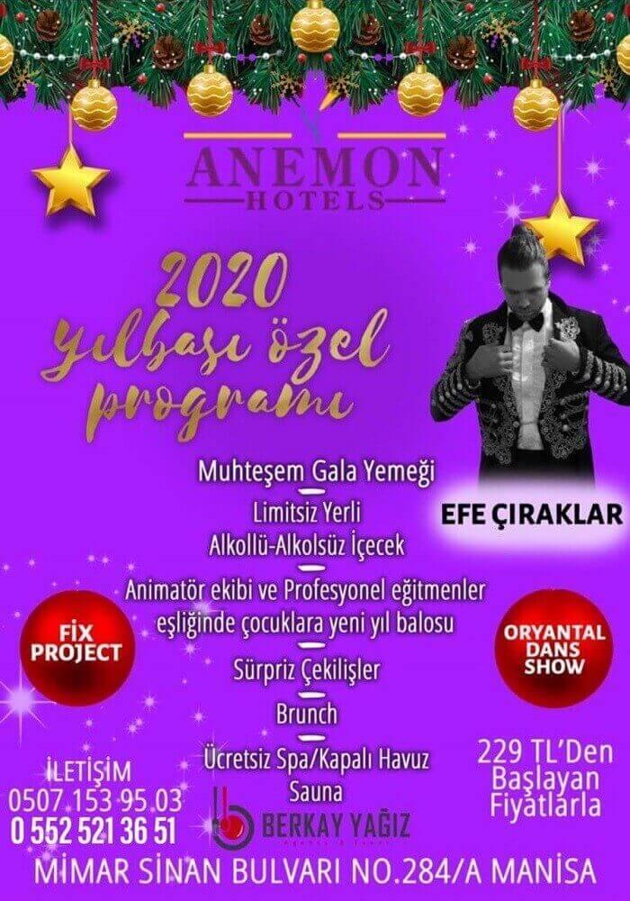 Anemon Manisa Otel Yılbaşı Programı 2020