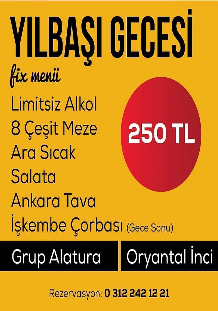 Ankara Balat Çayyolu Meyhanesi Yılbaşı Programı 2020