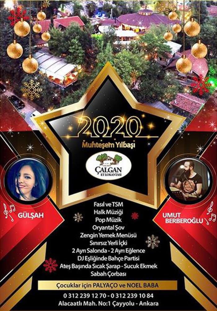 Ankara Çalgan Et Lokantası Yılbaşı Programı 2020