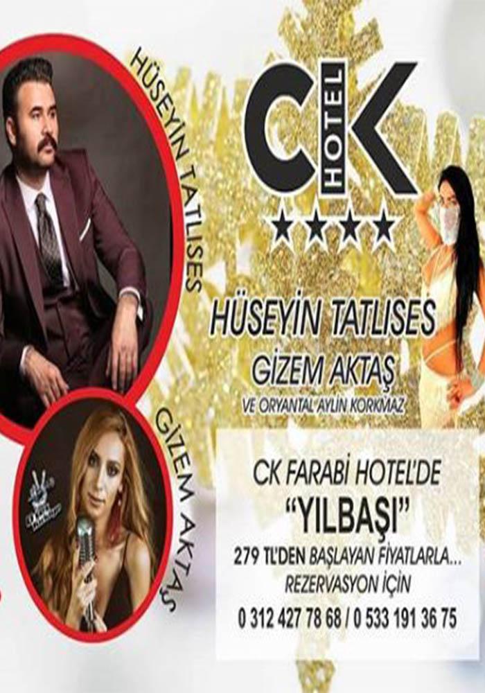 Ankara CK farabi Otel Yılbaşı Programı 2020