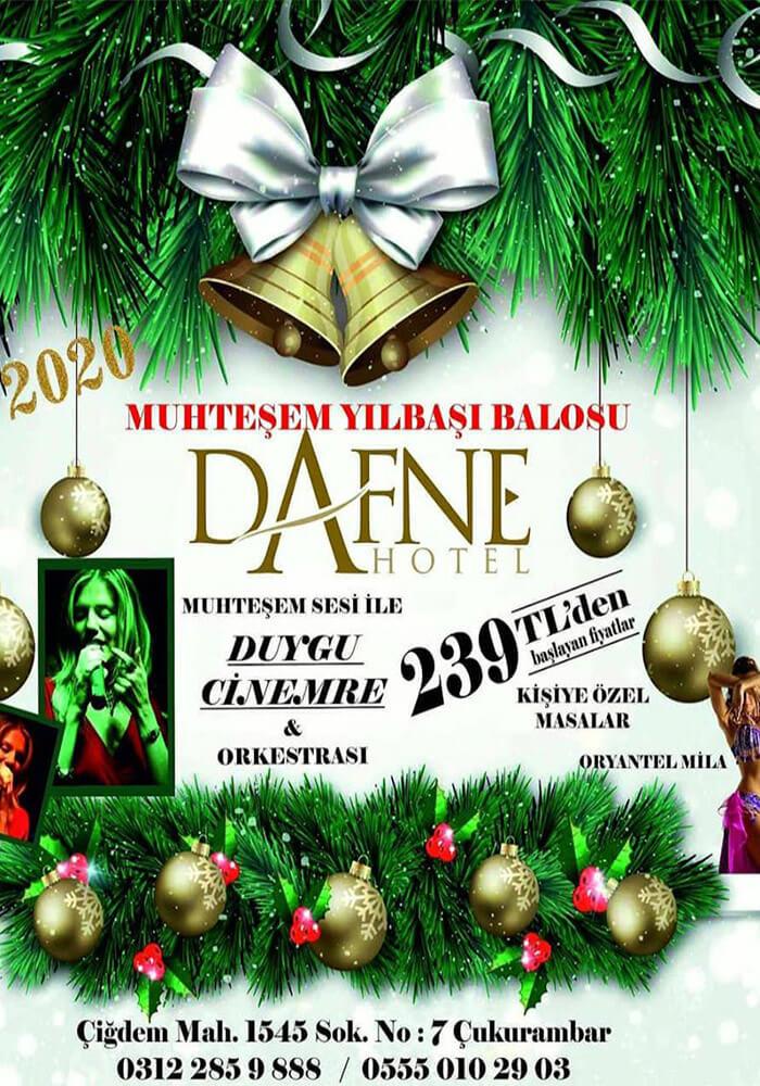Ankara Dafne Hotel Yılbaşı Programı 2020