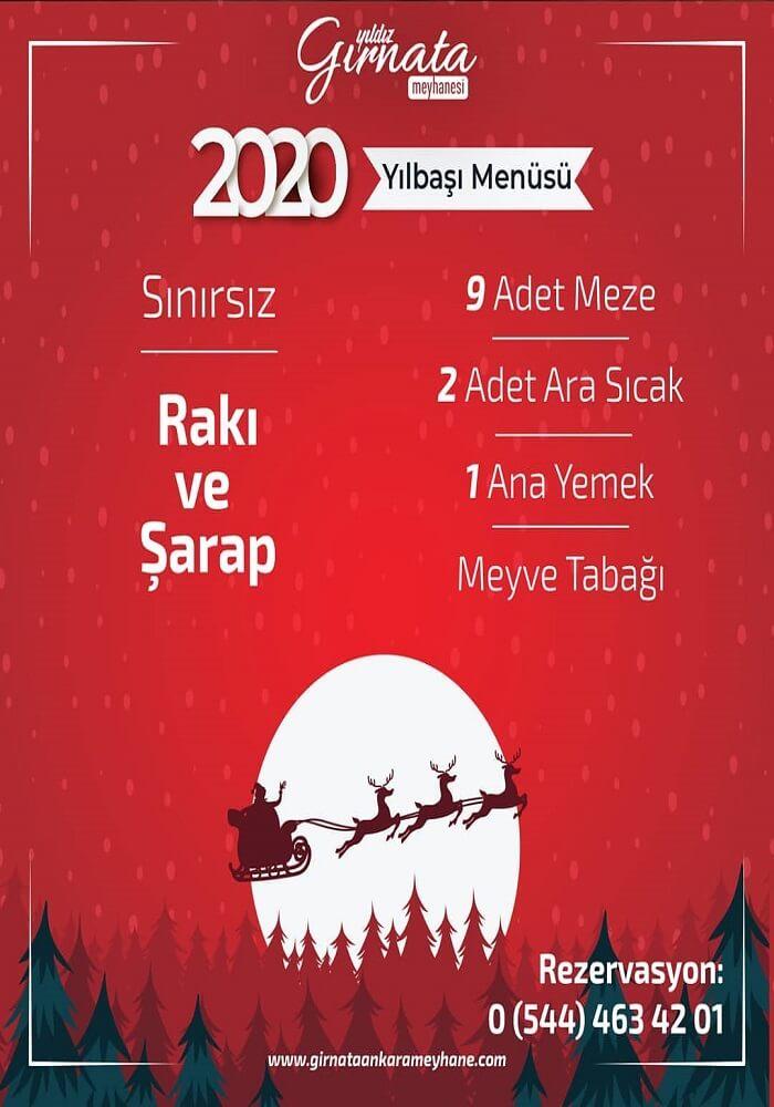 Ankara Gırnata Meyhanesi Yılbaşı Fasıl Programı 2020