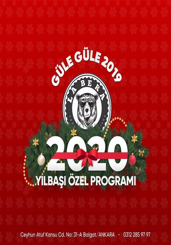 Ankara LaBERA Cafe Restaurant Yılbaşı Programı 2020