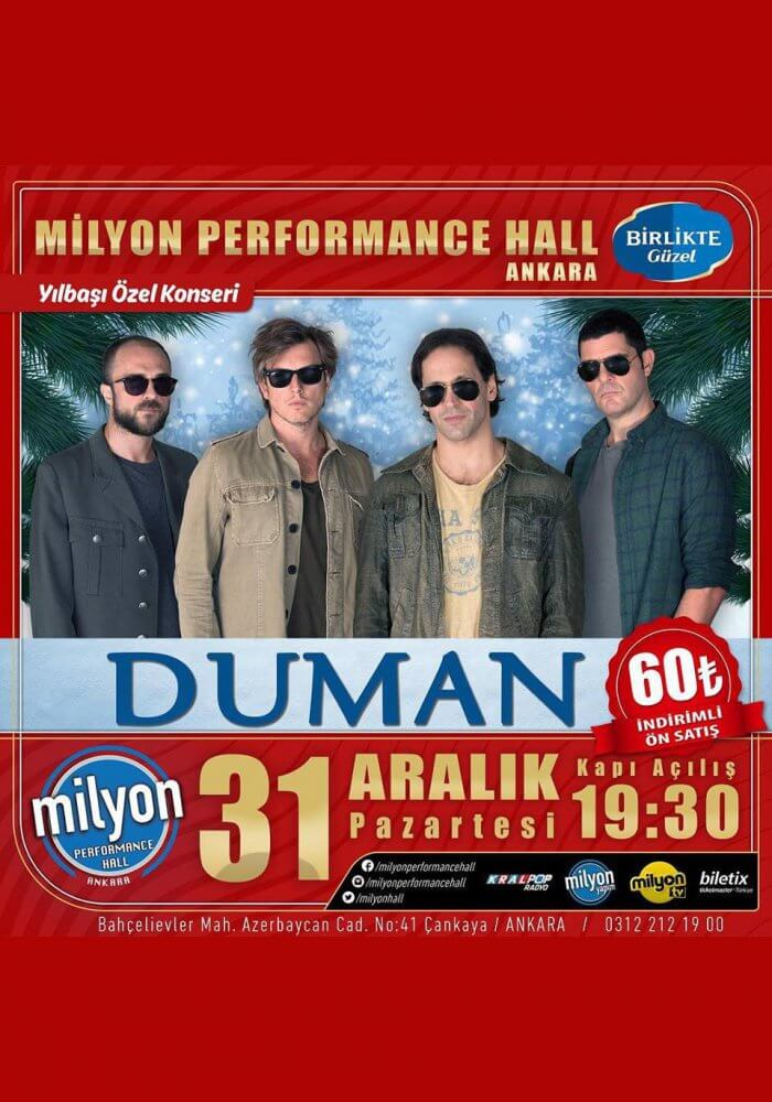 Ankara Milyon Performance Hall 2019 Yılbaşı Programı