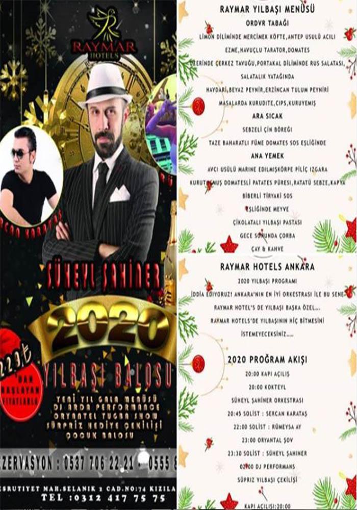 Ankara Raymar Hotel Yılbaşı Programı 2020