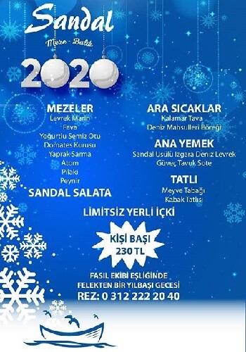 Ankara Sandal Meze & Balık Yılbaşı Programı 2020