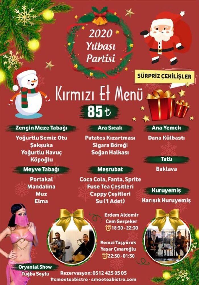Ankara Smootea Bistro Çankaya Yılbaşı Programı 2020