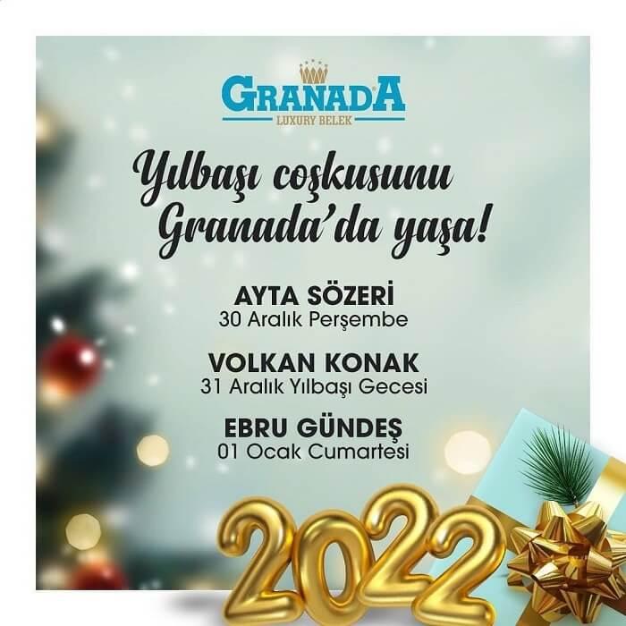 Antalya Granada Luxury Belek Hotel Yılbaşı Programı 2022
