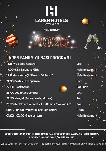 Antalya Laren Family Hotel Yılbaşı Programı 2020