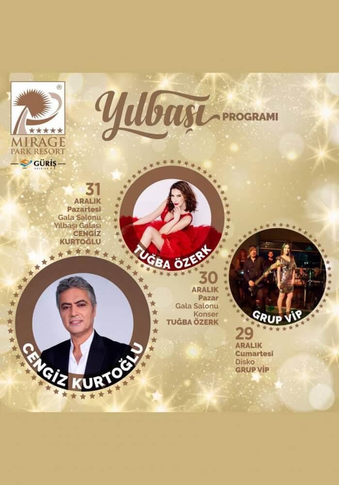 Antalya Mirage Park Resort 2019 Yılbaşı Galası