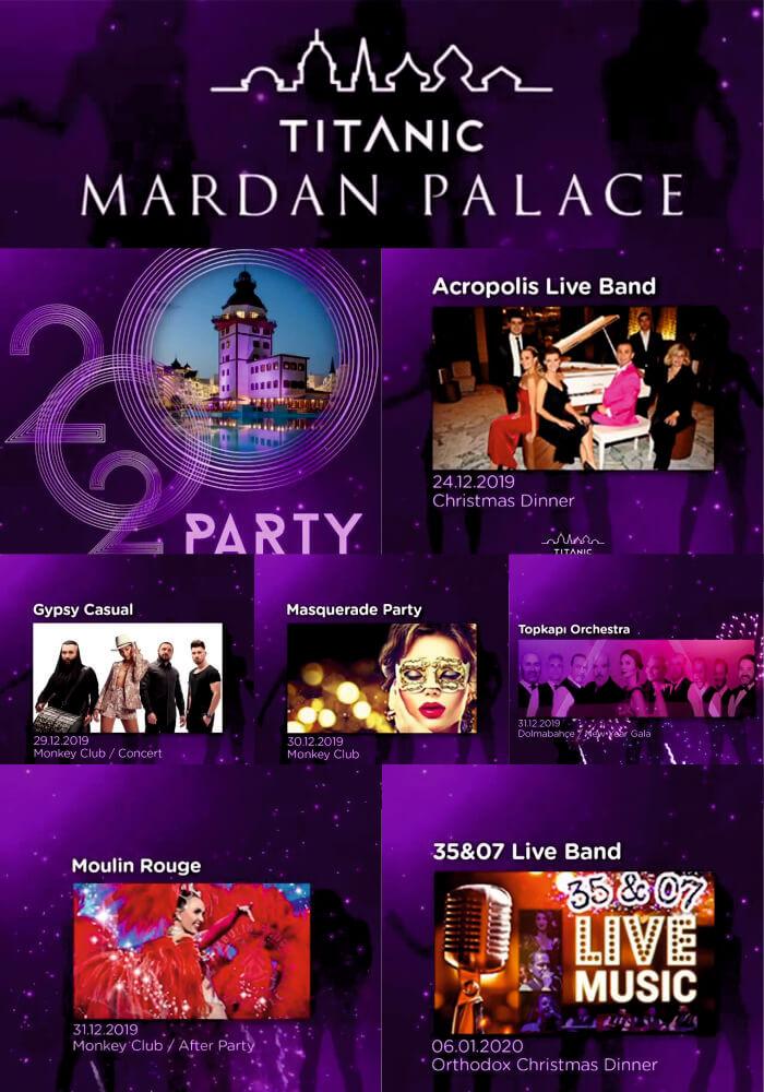 Antalya Titanic Mardan Palace 2020 Yılbaşı Galası
