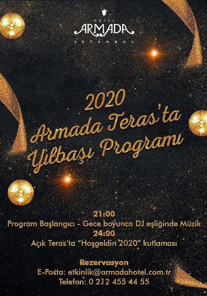 Armada Otel Teras İstanbul Yılbaşı Programı 2020