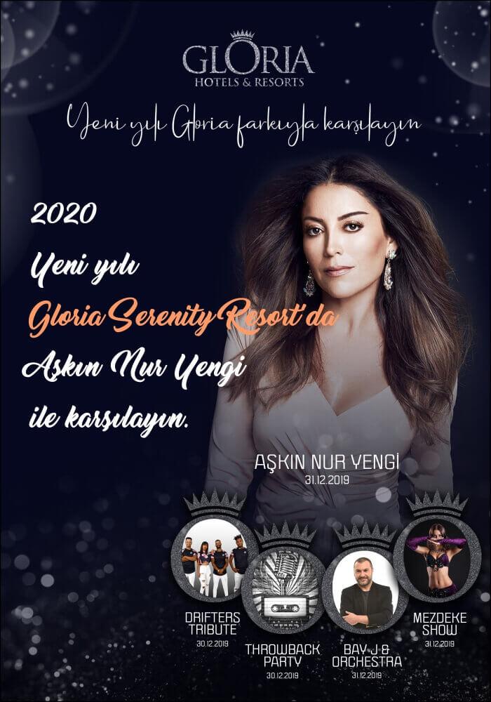 Aşkın Nur Yengi ile 2020 Yılbaşı Gloria Serenity Resorts Antalya