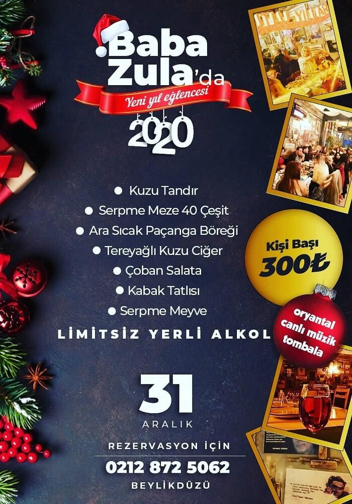 Baba Zula Meyhane İstanbul Yılbaşı Programı 2020