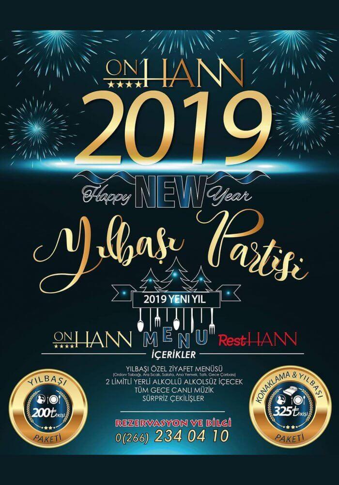 Balıkesir Onhann Otel 2019 Yılbaşı Partisi
