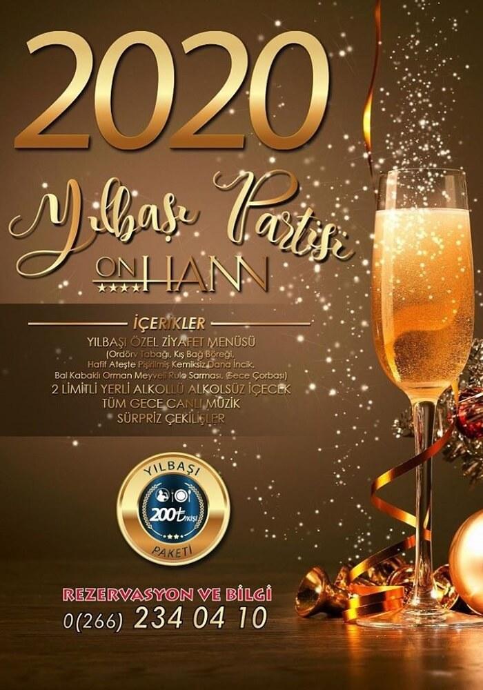 Balıkesir Onhann Otel Yılbaşı Programı 2020