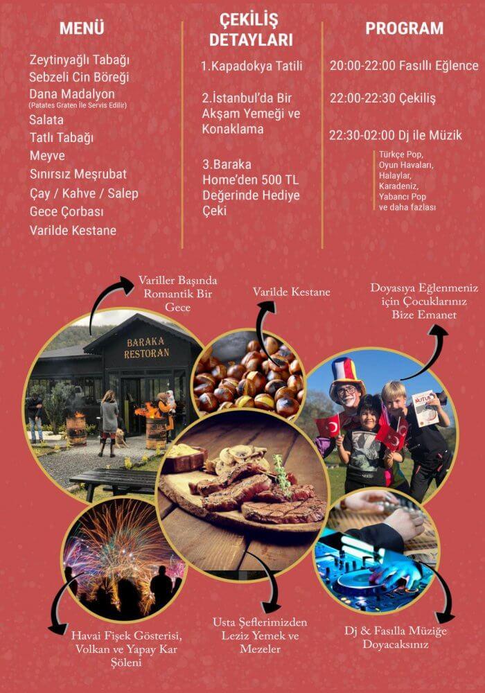 İstanbul Beykoz Yılbaşı 2019 - Baraka Köyü 2019 Yılbaşı Programı