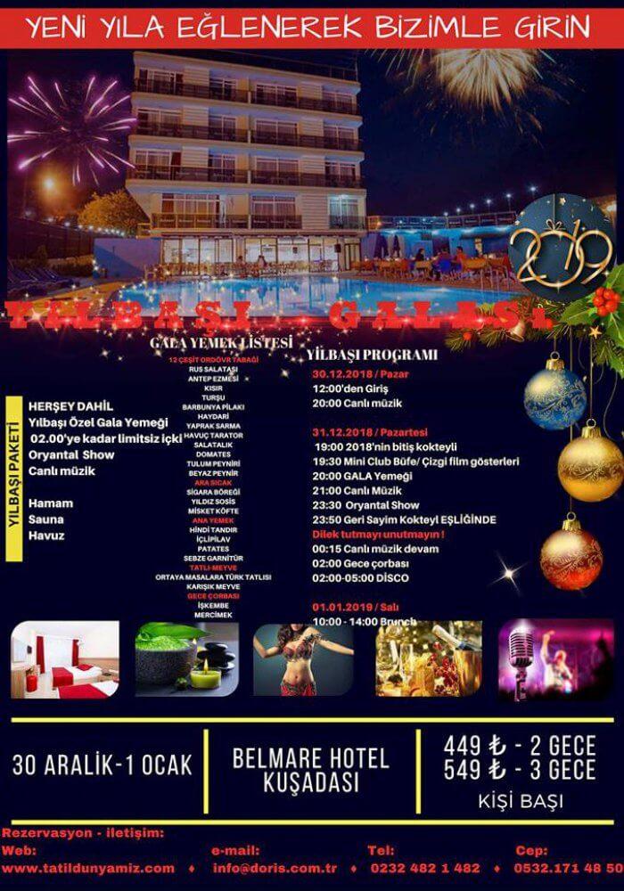 Belmare Otel Kuşadası 2019 Yılbaşı Programı