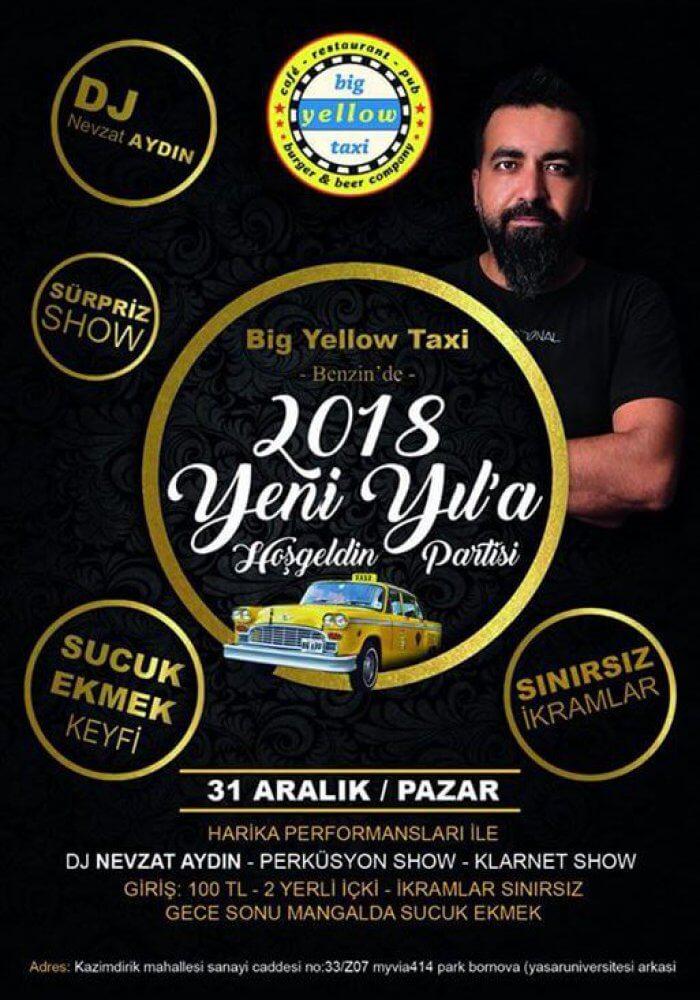 Big Yellow Taxi Bornova Yılbaşı 2018