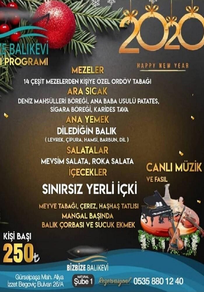 Bizbize Balık Evi Adana Yılbaşı Programı 2020