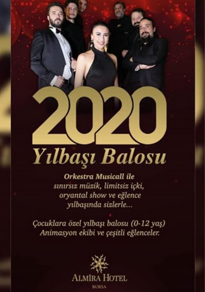 Bursa Almira Hotel Yılbaşı Programı 2020