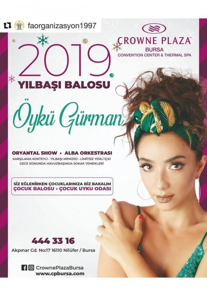 Bursa Crowne Plaza Yılbaşı Programı 2019