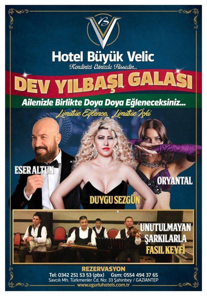 Büyük Veliç Otel Yılbaşı 2018