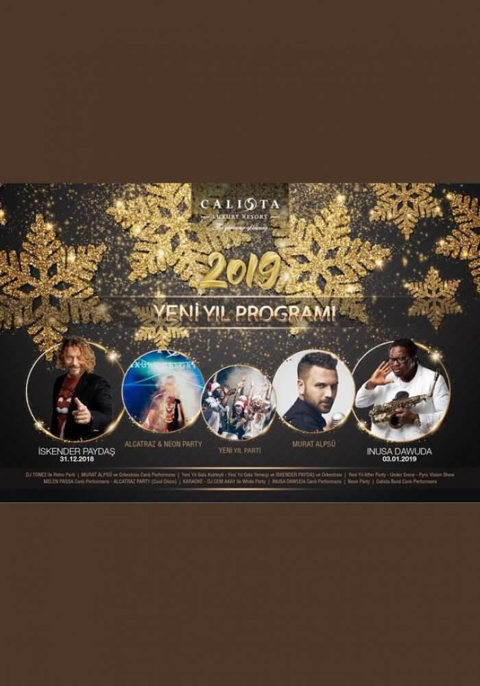 Calista Luxury Resort Belek Yılbaşı 2019 Programı