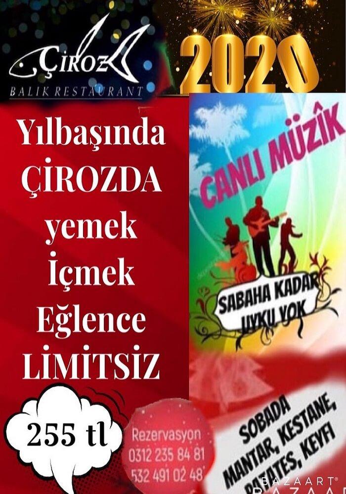 Çiroz Balık Lokantası Ankara Yılbaşı Programı 2020