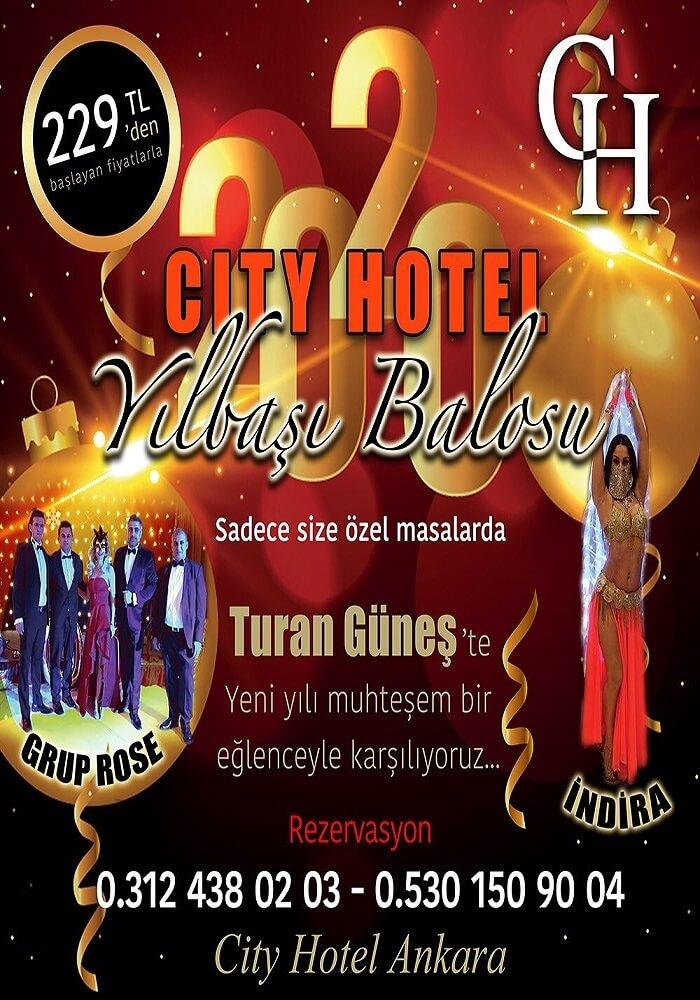 City Hotel Ankara Yılbaşı Programı 2020