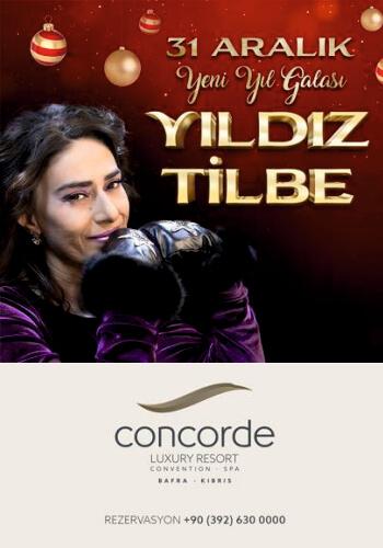 Yıldız Tilbe Concorde Luxury Resort 2020 Yılbaşı Programı
