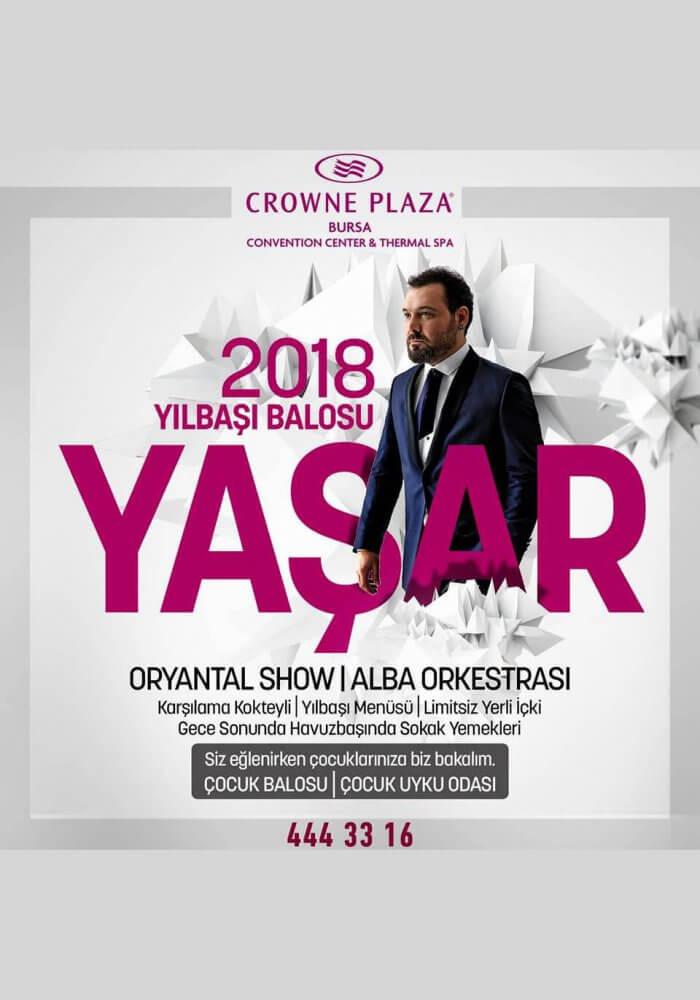Crowne Plaza Bursa Yılbaşı 2018