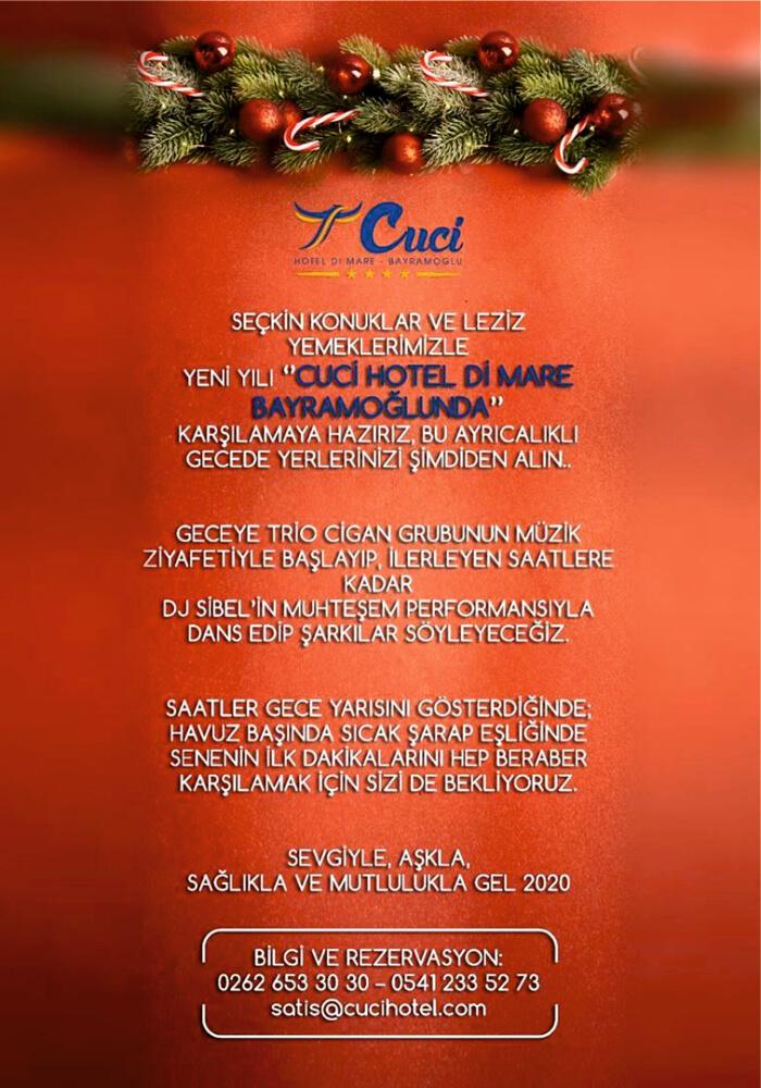 Cuci Hotel Kocaeli Yılbaşı Programı 2020