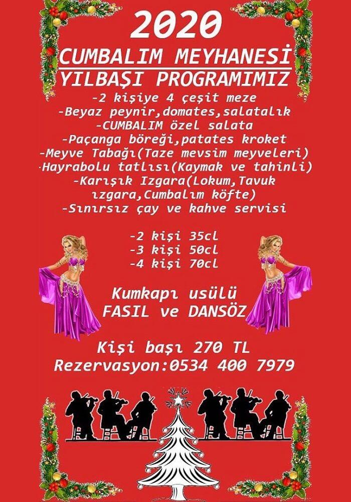 Cumbalım Meyhane İstanbul Yılbaşı Programı 2020