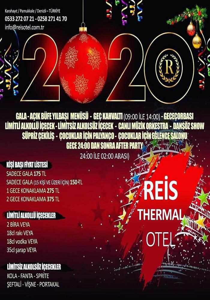 Denizli Reis Otel Yılbaşı Programı 2020
