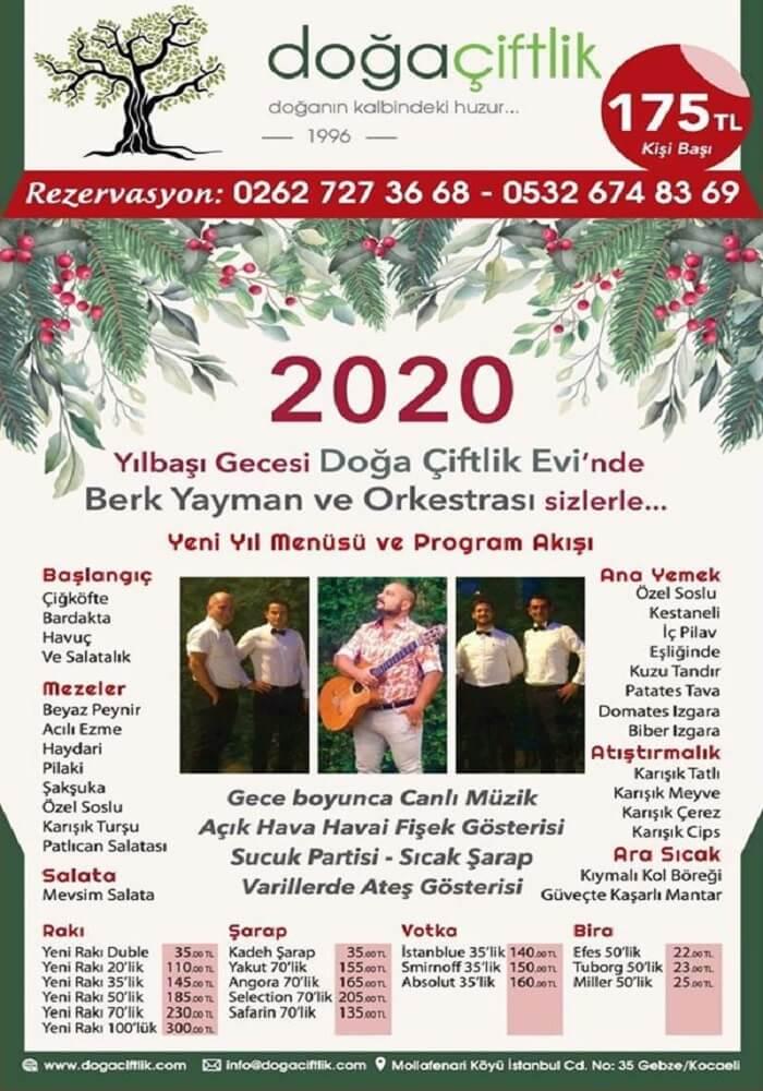 Doğa Çiftlik Evi Kocaeli Yılbaşı Programı 2020