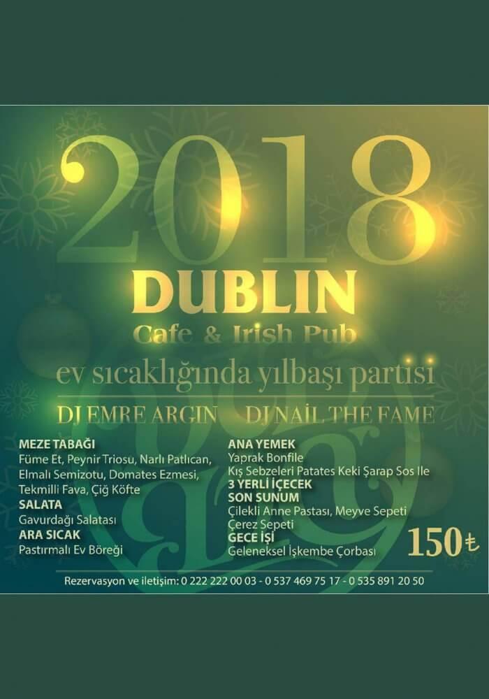 Dublin Cafe Irısh Pub Eskişehir Yılbaşı 2018