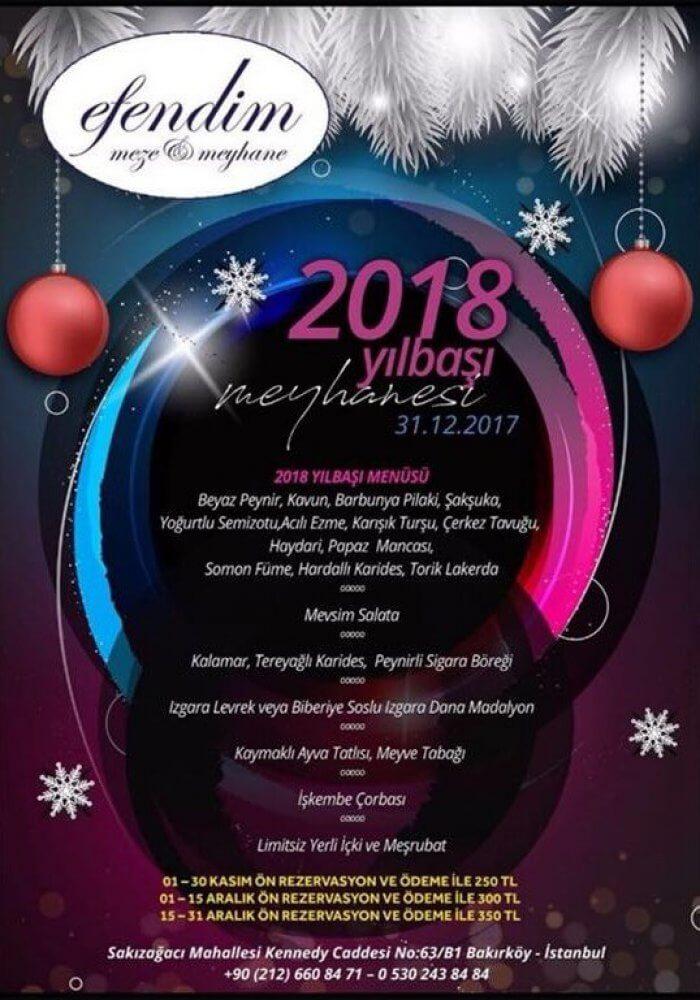 Efendim Fasıl Restaurant Yılbaşı 2018
