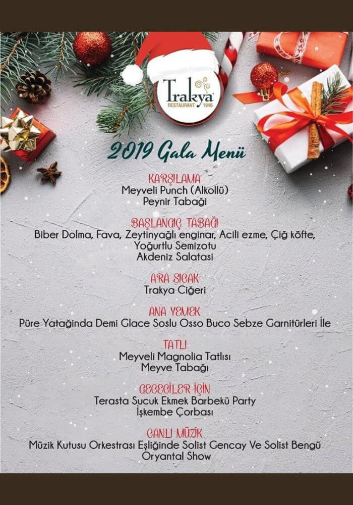 Eskişehir Trakya Restaurant Yılbaşı Programı 2019
