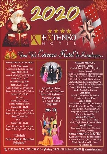 Extenso Hotel İzmir Yılbaşı Programı 2020
